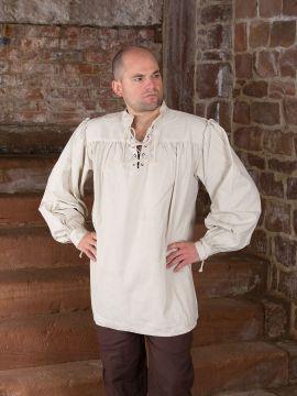 Chemise médiévale unisexe, blanc-écru XL