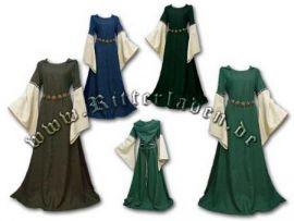 Robe médiévale Johanna - avec ou sans capuche jusqu'au 48